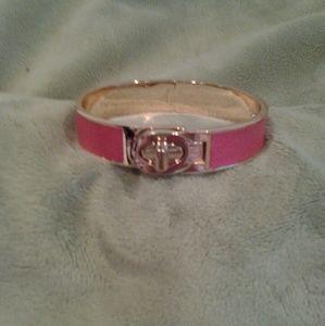 Coach bracelet pink with turn lock twist open NWT